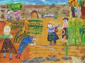 جایزه ی اول دوازدهمین مسابقه ی بین المللی نقاشی ژاپن در دستان کودک ایرانی